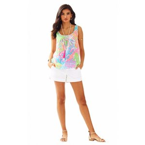 Lilly Pulitzer Silk Coral Resort Top Multi