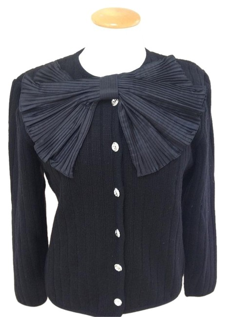 Preload https://img-static.tradesy.com/item/19849736/valentino-black-vintage-bow-sweater-cardigan-size-6-s-0-2-650-650.jpg