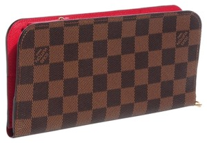 Louis Vuitton BRAND NEW 2016 MADE IN SPAIN Damier Ebene W/Red interior Wallet.