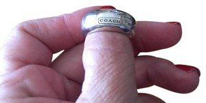 Coach wide band sterling silver