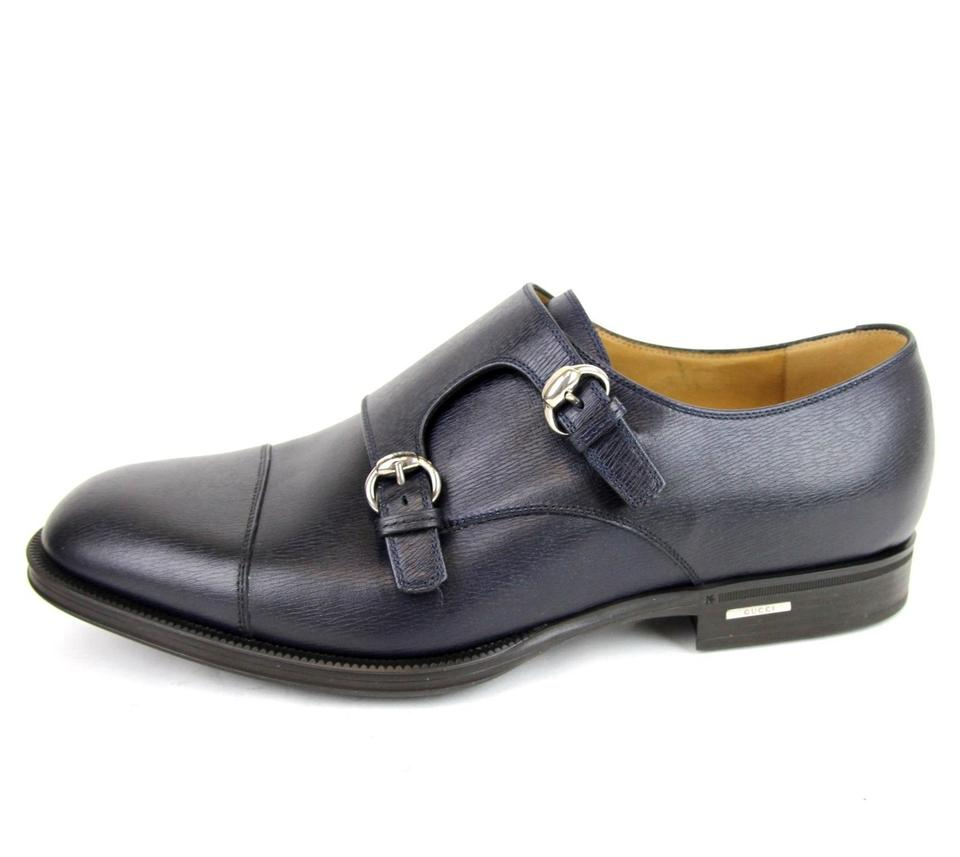 09673fa797dc2 Gucci Blue Horsebit Leather Loafer W/Double Buckle G 8.5/ Us 9.5 322478 4009.  123456789