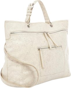 Derek Lam Calfskin Eclectic Italian Shopper Tote in Off White