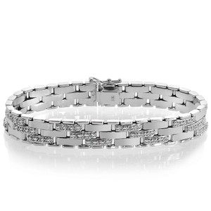 Avital & Co Jewelry 2.25 Carat Mens Diamond Bracelet In 14k White Gold