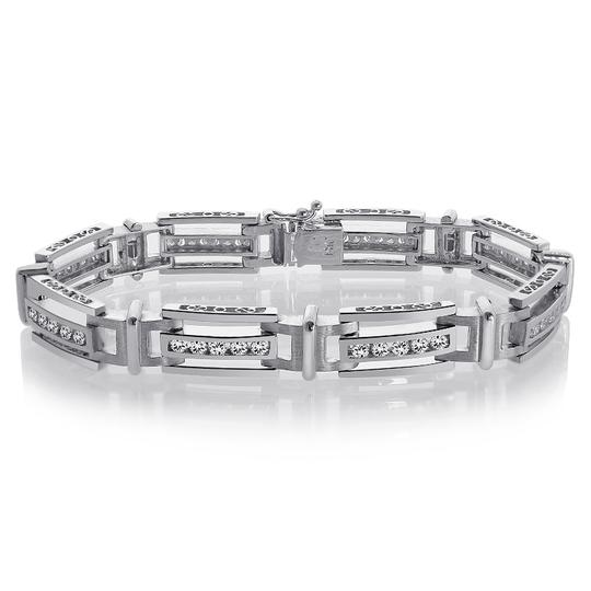 Preload https://img-static.tradesy.com/item/19849990/avital-and-co-jewelry-14k-white-gold-275-carat-mens-channel-set-round-cut-diamond-bracelet-0-2-540-540.jpg