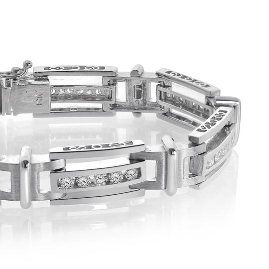 Avital & Co Jewelry 2.75 Carat Mens Channel Set Round Cut Diamond Bracelet 14k White Gold Image 1