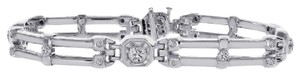 Avital & Co Jewelry Carat Mens Diamond Bracelet 14k White Gold