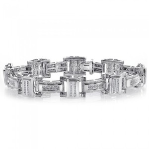 Avital & Co Jewelry 3.65 Carat Mens Diamond Bracelet 14k White Gold