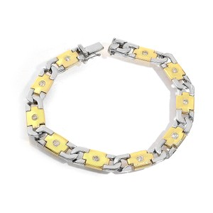 Avital & Co Jewelry 0.85 Carat H-si2 14k Two Tone Mens Diamond Bracelet