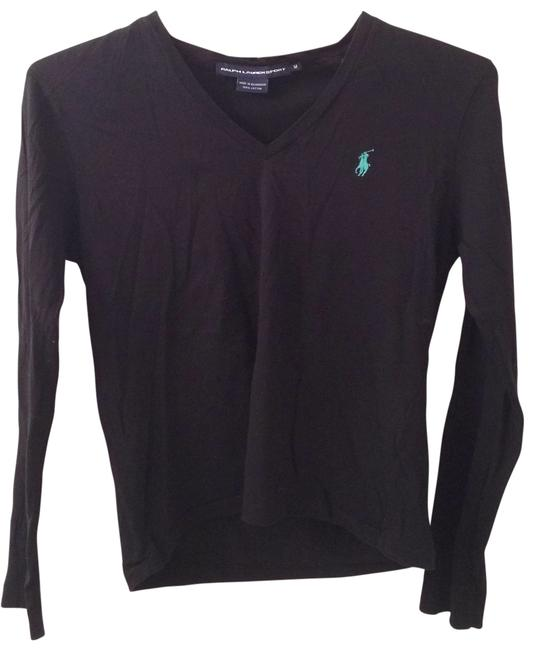 Item - Black with Green Pony Tee Shirt Size 8 (M)
