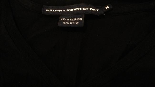 Polo Sport T Shirt black with green pony