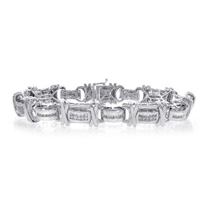 Avital & Co Jewelry 2.25 Carat Mens Diamond Bracelet 14k White Gold
