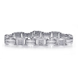 Avital & Co Jewelry 3.50 Carat Mens Diamond Bracelet 14K White Gold