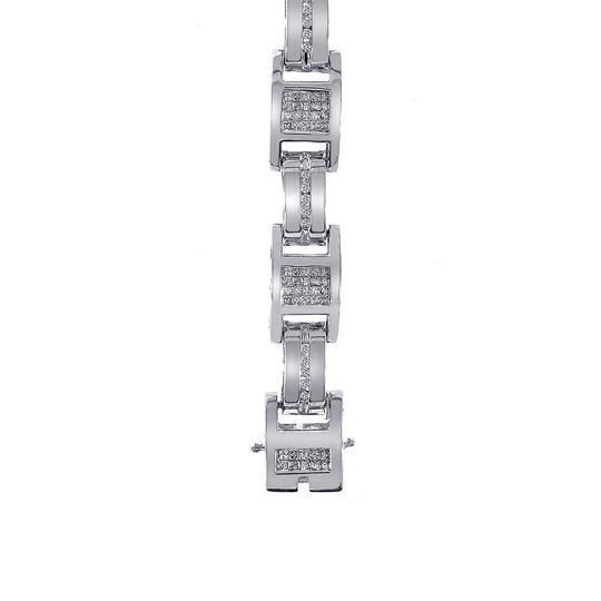 Avital & Co Jewelry 3.50 Carat Mens Diamond Bracelet 14K White Gold Image 3