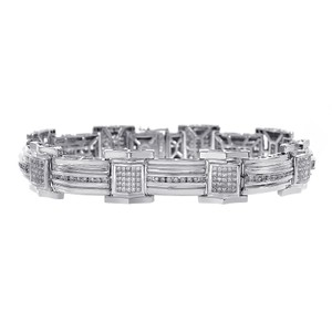Avital & Co Jewelry 4.00 Carat Mens Diamond Bracelet 14K White Gold