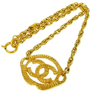 Chanel Chanel Vintage Gold CC Charm Chain Necklace
