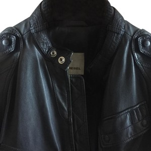 Diesel Leather black Jacket
