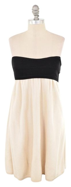Sarah Coventry Thick Knit Color-block Strapless Mini Dress Image 0