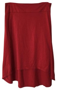Threads 4 Thought Organic Midi Maxi Skirt Red