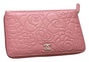 Chanel Camellia limited pink Wallet