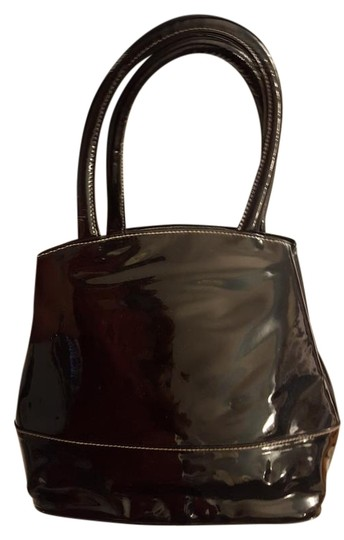 Isaac Mizrahi Patent Leather Patent Leather Satchel in Black Image 0