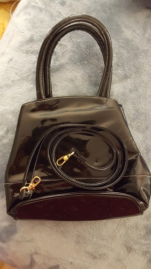 Isaac Mizrahi Patent Leather Patent Leather Satchel in Black Image 1