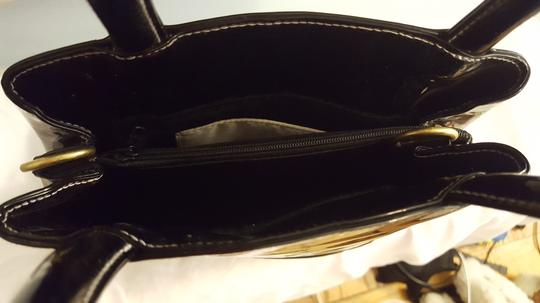 Isaac Mizrahi Patent Leather Patent Leather Satchel in Black Image 2