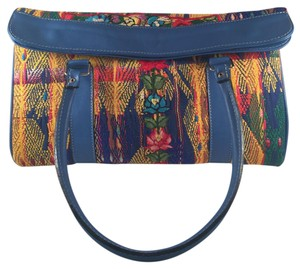 ITZA Vintage Hippie-chic Leather Embroidered Shoulder Bag