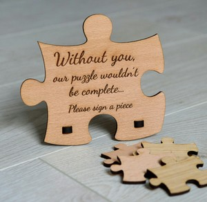Puzzle Guest Book Sign