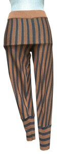 Marni Cropped Cotton Capri/Cropped Pants Brown and Grey