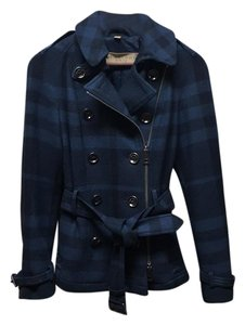 Burberry Skirted Wool Jacket Trench Coat