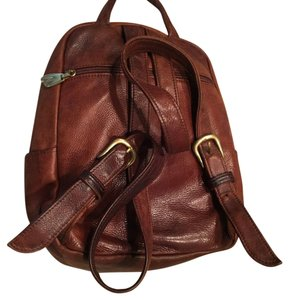 Libaire Boho Leather Brown Backpack