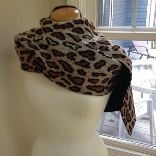 Worldly Things NYC Knit Leopard Wrap Image 11