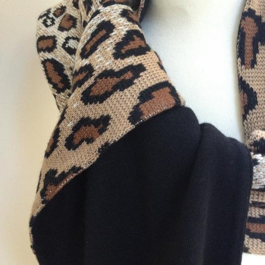 Worldly Things NYC Knit Leopard Wrap Image 3
