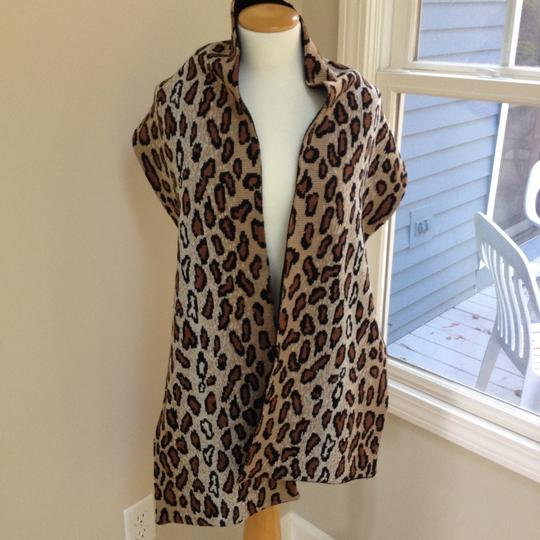 Worldly Things NYC Knit Leopard Wrap Image 5