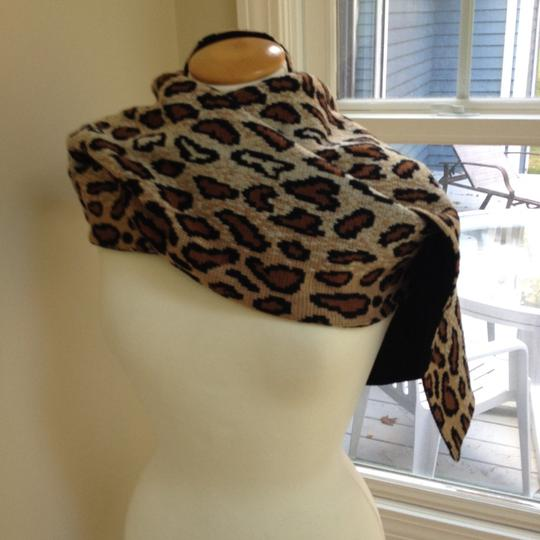 Worldly Things NYC Knit Leopard Wrap Image 6