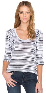 STATESIDE Burnout Stripe Raglan T Shirt navy/white stripe
