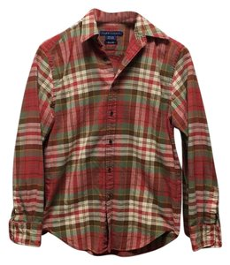 Ralph Lauren Button Down Shirt Fall Plaid / Red and Green Plaid