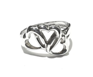 Tiffany & Co. Tiffany & Co Triple Heart Sterling Silver Ring Size 6