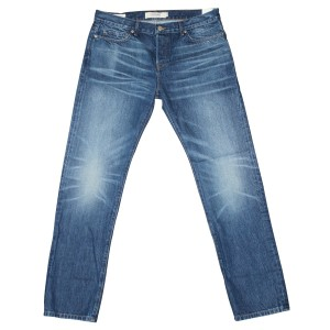 Lucky Brand Vintage Vintage Blue Distressed Straight Leg Jeans-Distressed
