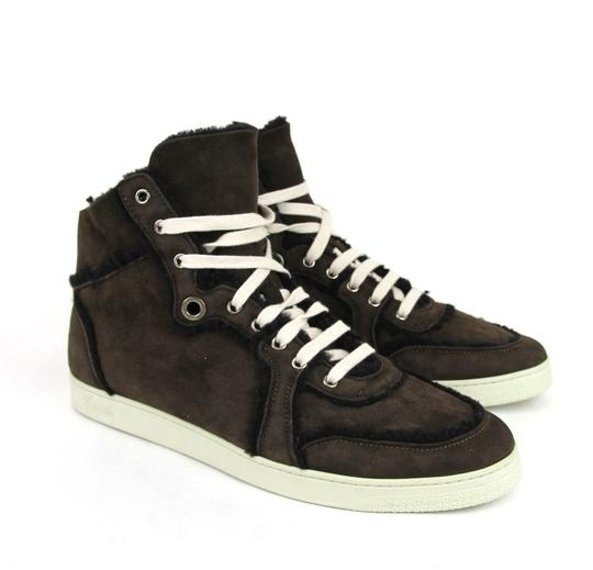 Gucci Cocoa W Shearling High-top Sneaker W/Web 6.5/ Us 7 309408 2140 Shoes Image 3