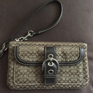 Coach Monogram Wallet Wristlet in Brown