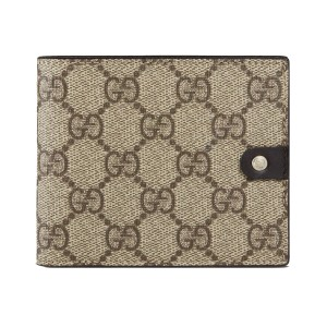 Gucci Gucci Supreme GG Canvas Leather Men's Bi-fold Wallet