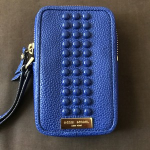 Henri Bendel Blue Cell Phone Case Wallet Credit Card Holder