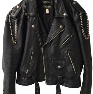 Diamond Leather Collection Motorcycle Jacket