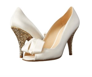 Kate Spade Wedding Glitter Ivory Pumps