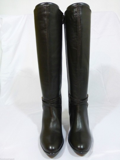 Vaneli Leather Knee High Equestrian Brown Boots Image 2