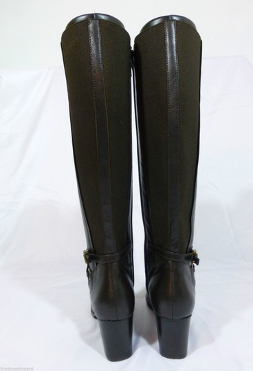 Vaneli Leather Knee High Equestrian Brown Boots Image 3