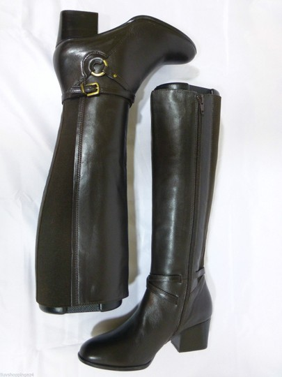 Vaneli Leather Knee High Equestrian Brown Boots Image 5