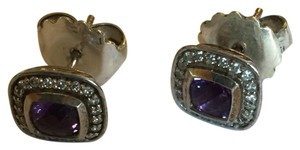 David Yurman David Yurman Petite Amethyst and Diamond Earrings