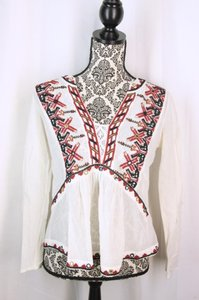 Anthropologie Tunic Peasant Boho Bohemian Top Multi Color